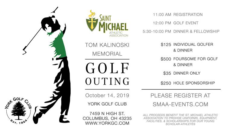 Register Now – St Michael Golf Outing – Monday October 14th