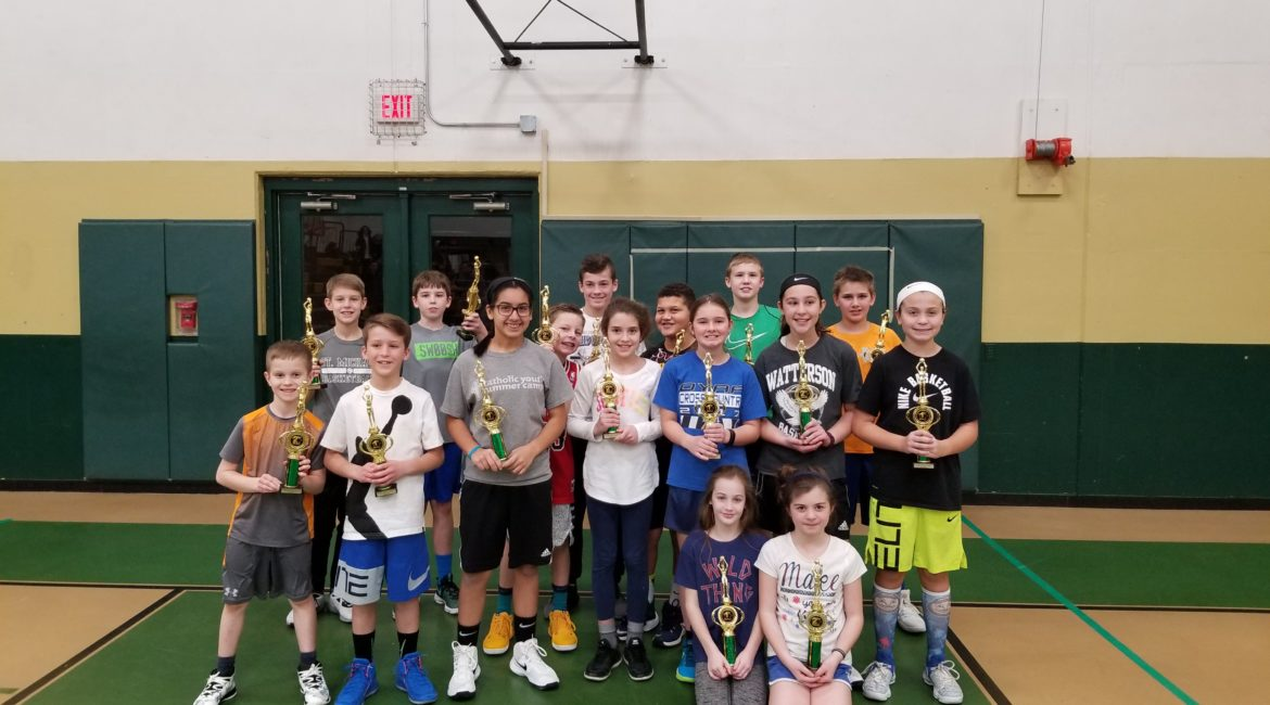 Free throw competition winners