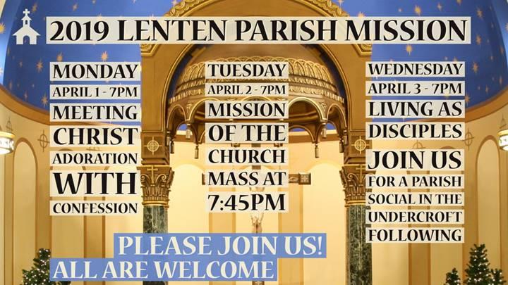 St. Michael Lenten Parish Mission (April 1 – April 3)