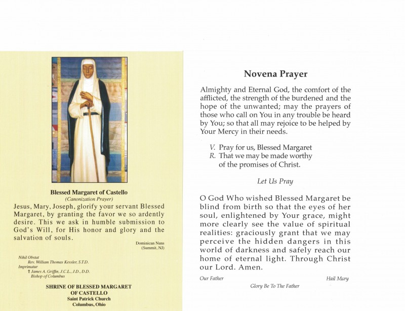 This Saturday – concluding novena to Blessed Margaret